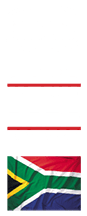 SABS approved stamps with south african flag vertical